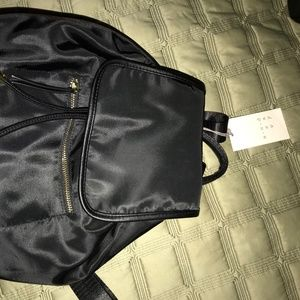 Black Satin Small Backpack from Target